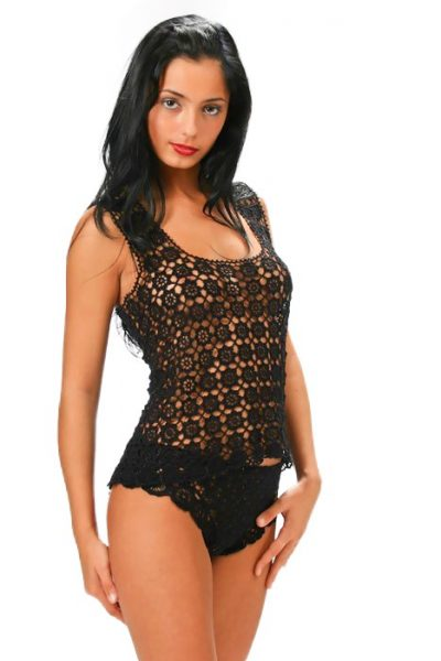 Black lace top from Koniakow